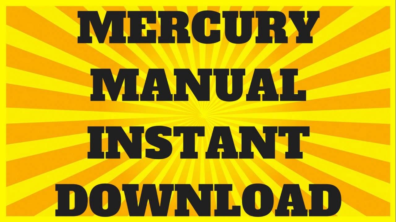 mercury service manuals 50hp