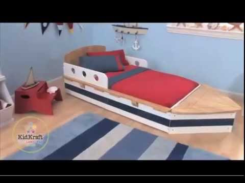 kidkraft kinderbett boot 76253 youtube. Black Bedroom Furniture Sets. Home Design Ideas
