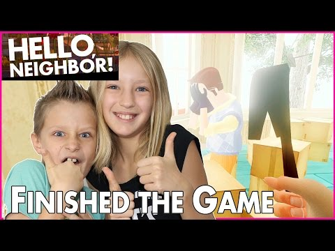 I Finally Beat the Game / Hello Neighbor Alpha 3 / Game Completed