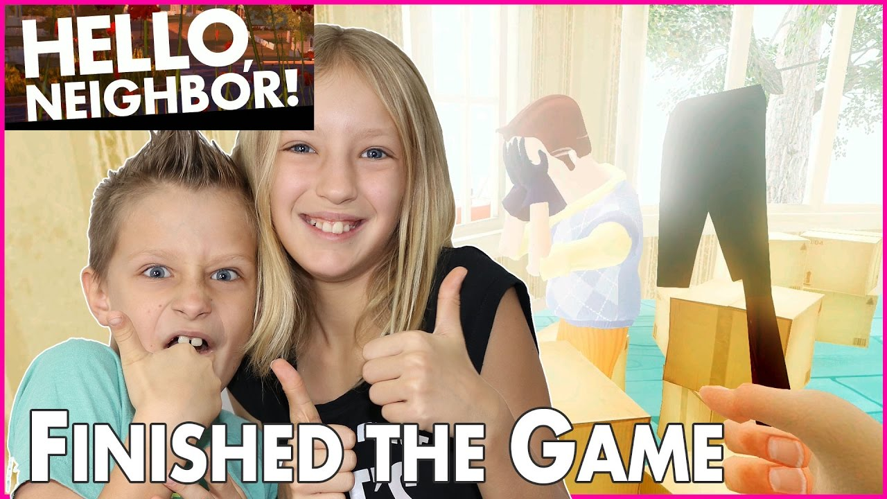 I Finally Beat The Game Hello Neighbor Alpha 3 Game
