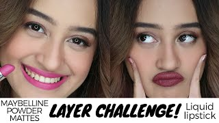 50 Layers of Maybelline Powder Mattes vs Liquid Lipstick Review Swatches Indonesia