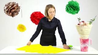 Мастер-класс: как оформить букет бумагой тишью | sima-land.ru