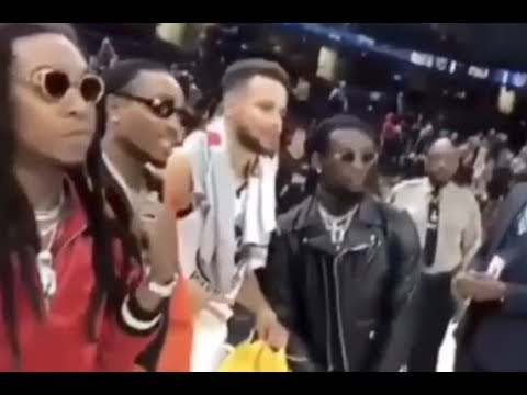 Quavo Ask Stephen Curry For His Game Shoes After Beating Cavs