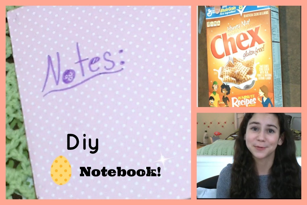 Diy notebook from a cereal box easy project youtube ccuart Gallery