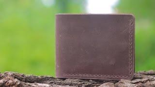Мужской кожаный бумажник ручной работы VOILE vl-mw1-brn. Купить недорого - видео обзор