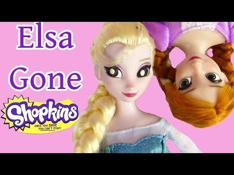 Disney Frozen Queen Elsa Gone Shopkins Crazy Princess Anna Barbie House Dolls Part 2