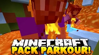 Minecraft - THE PACK vs CHRISTMAS EVE PARKOUR! (FUNNY RAGE MOMENTS!)