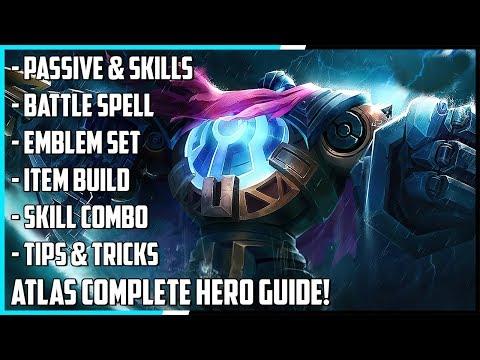 Atlas Complete Hero Guide! Best Build, Spells, Skill Combo, Tips & Tricks | Mobile Legends