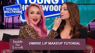 Kandee Johnson's Quick Ombre Lip Makeup Tutorial! | Young Hollywood