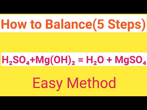 H2SO4+Mg(OH)2=H2O+MgSO4 Balanced Equation|Sulphuric Acid+Magnesium Hydroxide=Water+Magnesium Sulphat