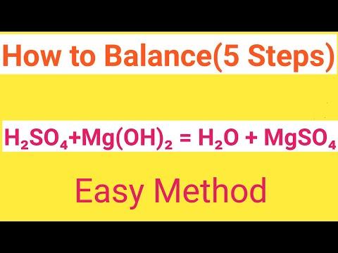 H2SO4+Mg(OH)2=H2O+MgSO4 Balanced Equation|Sulphuric Acid+Magnesium Hydroxide=Water+Magnesium Sulphat