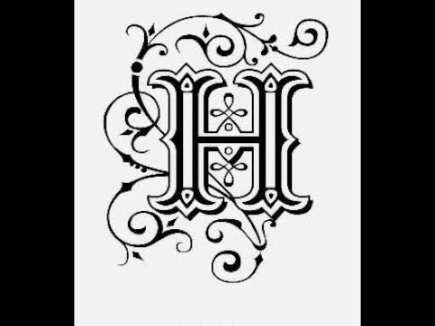 طريقة كتابة حرف H مع زخرفة الحرف تعليم الرسم للمبتدئين Youtube