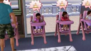 The sims 3 toddlers 10 crying hungry toddlers and a baby.