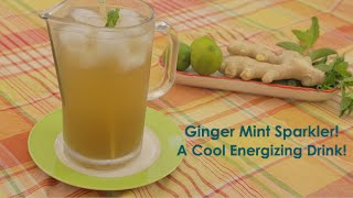 My Ginger Mint Sparkler with Lime: Cool & Refreshing Drink!