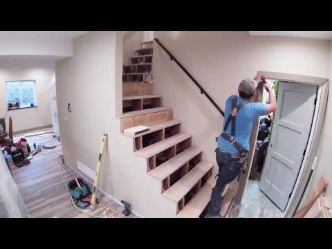 Staircase Remodel Timelapse Filmed With 4k Go Pro