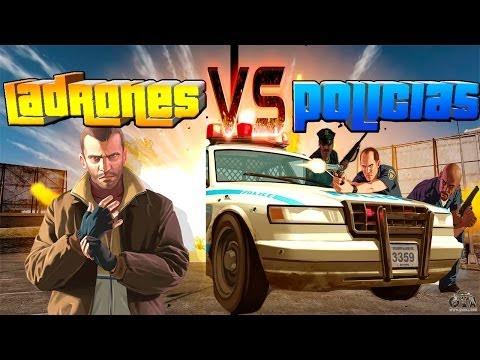 GTA V Online - Policías Contra Ladrones! 15 Vs 1 Risa Asegurada XD - NexxuzHD letöltés
