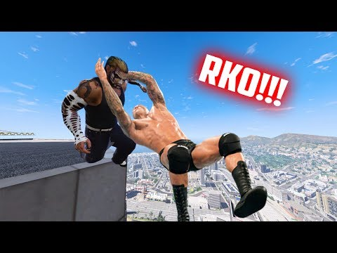 GTA 5 WRESTLING LIKE IN WWE #17 (RKO, Spear, Swanton Bomb, and more!)