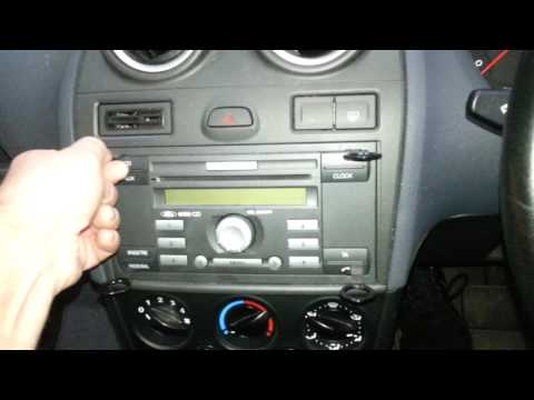 How To Remove The  Factory Radio From A  Ford Fiesta