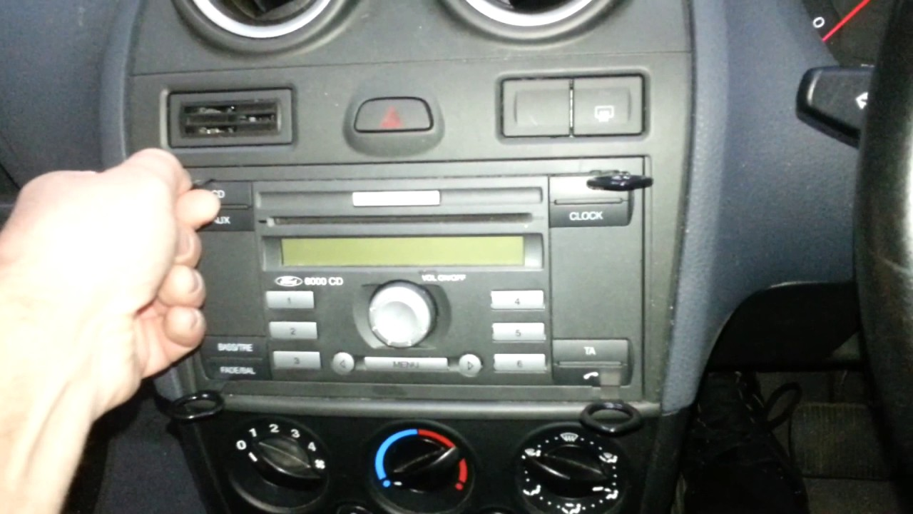 How To Remove The Factory Radio From A Ford Fiesta Youtube 2014 Focus Stereo Upgrade