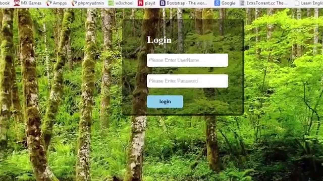 Login Form Design With Glass Effect Using HTML And CSS In ...