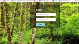 login form design with glass effect using css3 in urdu hindi