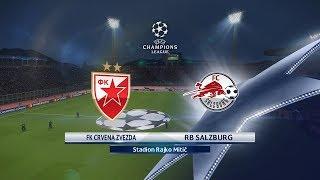 CRVENA ZVEZDA vs. FK SALZBURG (0:0) - UEFA CHAMPIONS LEAGUE PLAY OFF 1st LEG - PES 2018