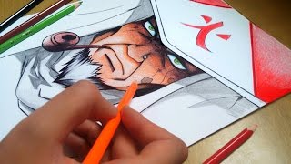 Speed Drawing - Naruto Hokage Sarutobi
