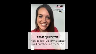 How to look up TPMS sensor part numbers on the VT56