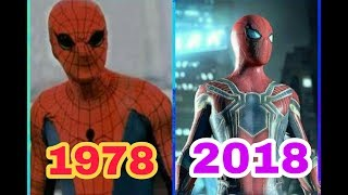 Evolution of SPIDERMAN in Movies (1978-2018) Spiderman history infinity war.