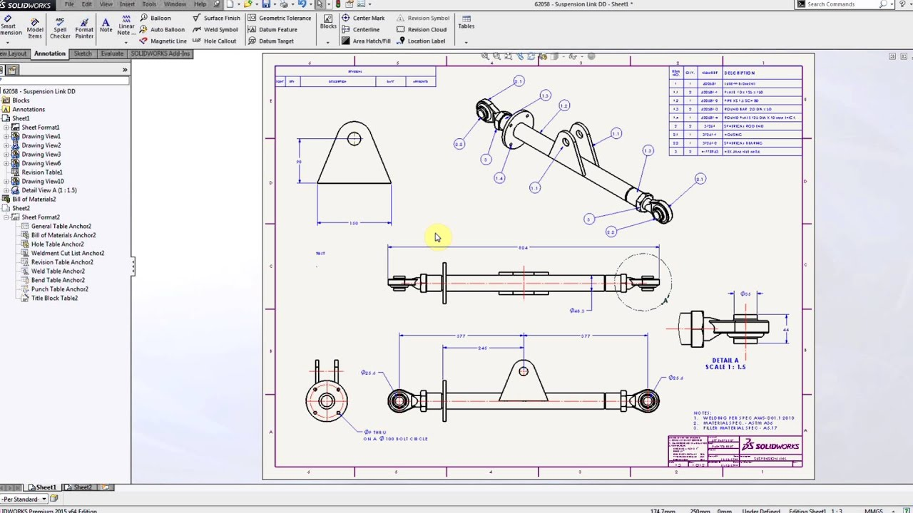 Solidworks Detached Drawings Youtube