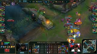 SKT Wolf Godlike Engage with epic follow up vs EDG Game changing 2017 LoL World Championship Groups