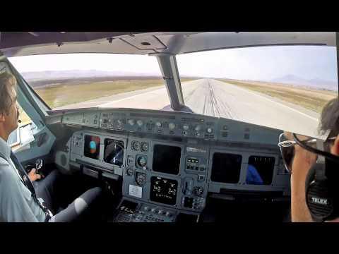 Sulaimaniyah ORSU Cockpit view Landing rwy 35
