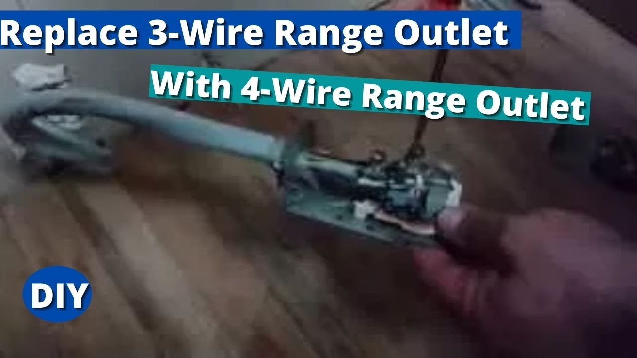 how to replace 3 wire range outlet with 4 wire range outlet youtube rh youtube com