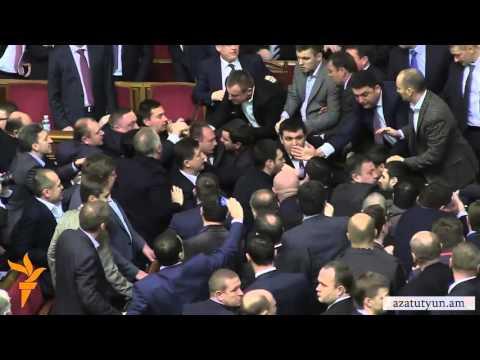 Ukrainian rada fight