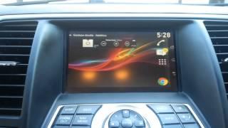 Nissan Teana (2008-2011)-cнятие блокировки видео, установка блока для передачи информации с телефона