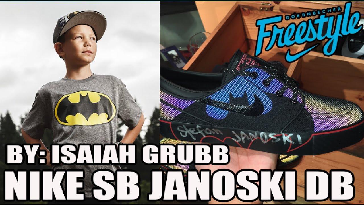 Nike Zoom Janoski DB \u0026quot;Batman\u0026quot; w/ Isaiah Grubb! Reflective Test Review! (Doernbecher Freestyle 12)