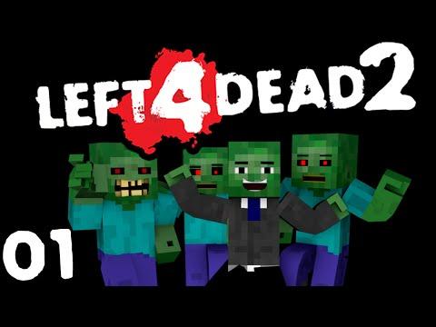 Left 4 Dead 2 - Minecraft | Глава 1: Вымерший Центр / Dead Center [Прохождение]