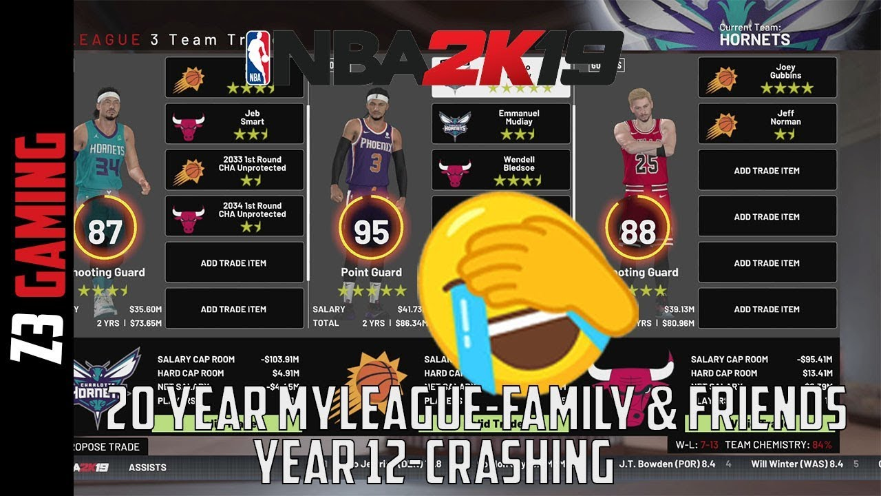 Year 11|20 Years MyLeague in NBA 2K19 w/ Family and Friends-Crashing