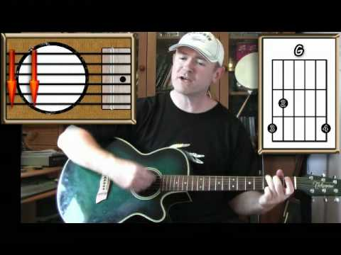 Bad Moon Rising - Creedence Clearwater Revival - Acoustic Guitar Lesson (easy)