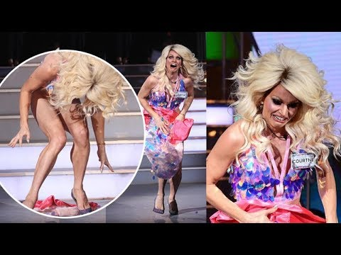 Courtney Act skirt falls off on live TV during 'Celebrity Big Brother'