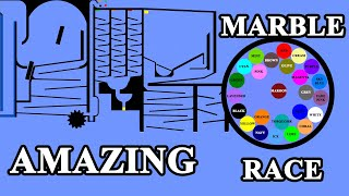 Amazing Marble Race With Colours in Algodoo \ Marble Race King