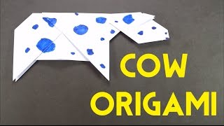 Cow Origami Tutorial - Fun and Easy Origami Tutorial for Beginners - How To Make Paper Cow - DIY