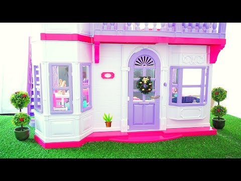 Barbie Life in the Dreamhouse Doll house Renovation New kitchen, Living Room