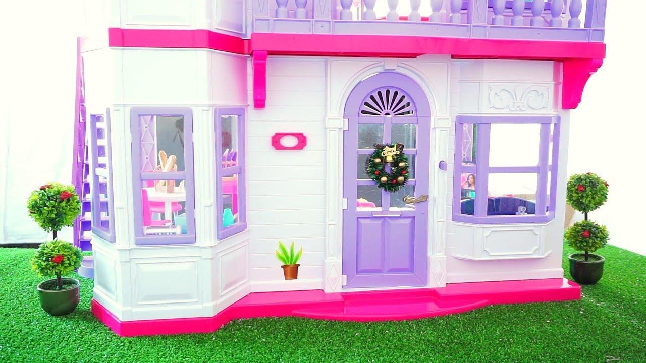 Barbie Dolls Hello Dreamhouse Dollhouse W Kitchen: Barbie Life In The Dreamhouse Doll House Renovation New