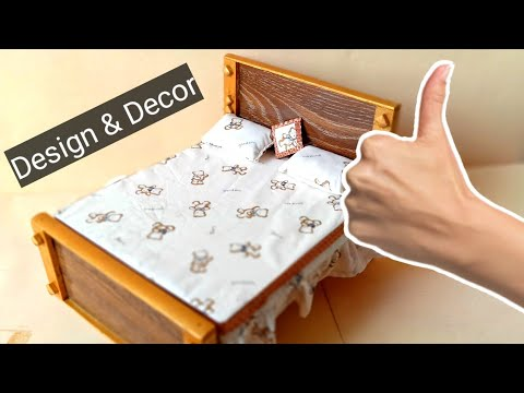 #DIY#woodencraft How to Make a Wooden Mini Bed for Doll - best Idea