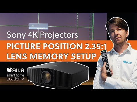 How to set up Sony 4k Projectors Picture Position / Lens Memory for 2.35:1 Cinemascope screens