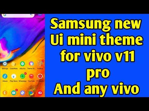 SAMSUNG NEW UI MINI ICONS GOOD THEME FOR VIVO V11 PRO