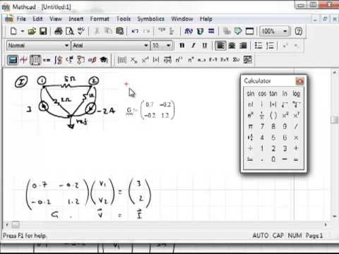 Mathcad How To Use Matrix Math To Solve A Linear Set Of Equations