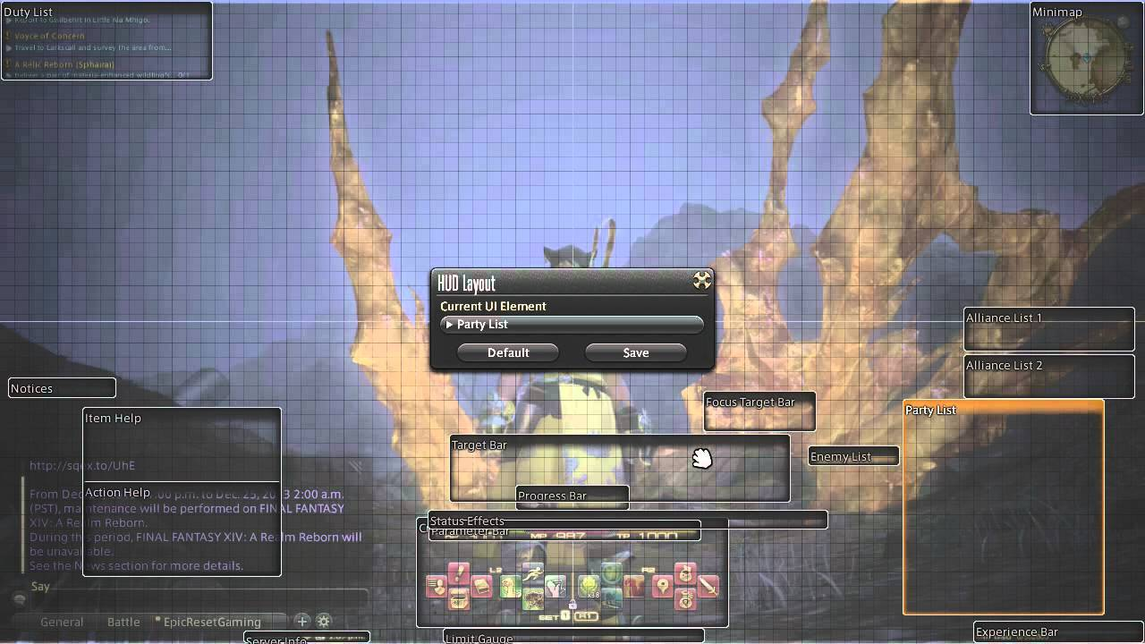 FFXiV:ARR - Tutorial - UI simplification & efficiencty setup (patch 2 1  update)