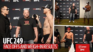 Full UFC 249 face offs and official weigh-in results | Ferguson v Gaethje, Cejudo v Cruz